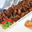 Stock Photo: Buffet with meatballs as finger food