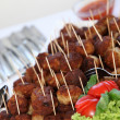 Buffet with meatballs as finger food — Stock Photo