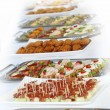 Buffet with appetizers or finger food — Stockfoto #3485283