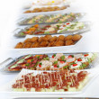 Buffet with appetizers or finger food — Stock fotografie #3485283