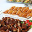 Buffet with meatballs as finger food — 图库照片