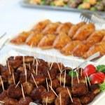buffé med köttbullar som plockmat — Stockfoto