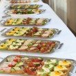 Buffet with appetizers or finger food — Stockfoto