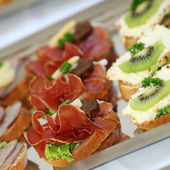 Appetizers or finger food — Foto Stock