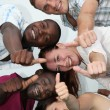 Foto de Stock  : Young and happy of various nationalities