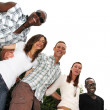 Young and happy of various nationalities — Stock Photo