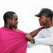 Two young men are fighting — Stock Photo