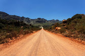 Lange en eenzame weg — Stockfoto