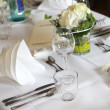 Elegant table decoration — Lizenzfreies Foto
