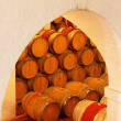 Wine barrels in the cellar — Stock Photo