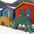 Stock Photo: Colorful bath houses at the seaside
