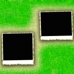 Blank photo frames on textured background — Stock Photo #3599839