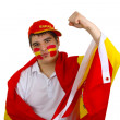 Stock Photo: Spanish soccer fan