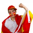 Spanish soccer fan - Stock Photo
