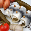 Rollmops on a white plate — Stock Photo #2772166