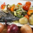 Sea bream from greece with vegetable — Stock Photo #2784666