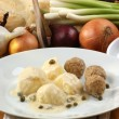 Organic minced meat balls with potato — Stock Photo #2808626