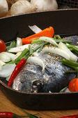 Organic sea bream from greece — Stock Photo