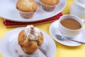 Home made sweet muffins — Stock Photo