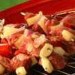 Shashlik on a grill — Stock Photo