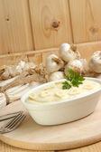 Mash potato with organic garlic — Stock Photo