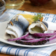 Some fresh organic rollmops — Stock Photo