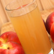 Some organic fresh nectarine and juice in a glass — Stok fotoğraf