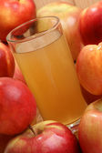 Fresh apple and nectarine juice in a glass — Stock Photo