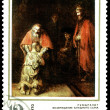 Vintage  postage stamp. Rembrandt. — Stock Photo