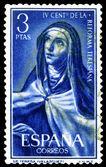 Vintage postage stamp. Sacred Tereza — Stock Photo