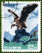 Vintage postage stamp. Mountain eagle — Stock Photo