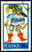 Vintage postage stamp. Cat in boots — Stock Photo