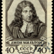 Postage stamp. English poet  John Milton — Stock Photo