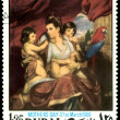 Postage stamp. Picture Reynolds - Stock Photo