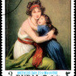 Postage stamp. Picture  Vigee-Lebrun — Stock Photo