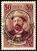 Postage stamp. Writer Anton Chekhov — Stock Photo