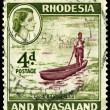 Postage stamp.  Rhodesia and Nyasaland - Stok fotoraf