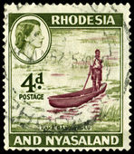 Postage stamp. Rhodesia and Nyasaland — Stock Photo