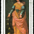Royalty-Free Stock Photo: Postage stamp. F. Zurbaran.