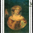 Postage stamp. Nicolas  Maes. Portrait - Stock Photo