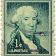 Postage stamp. The first president - Stock Photo