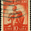 Vintage postage stamp. Post. Italy — Stock Photo