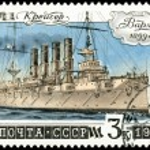 Постер, плакат: Postage stamp Cruiser Varyag