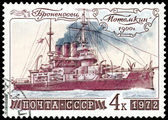 Postage stamp. Battleship Potemkin — Stock Photo