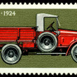 Postage stamp. Car  AMO - F15 - 1924. - Stock Photo