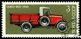 почтовая марка. автомобилей амо - f15 - 1924. — Стоковое фото