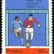 Postage stamp. World football cup in France. — Stock Photo