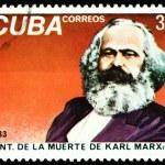 ������, ������: Vintage postage stamp Portrait Karl Marx 1
