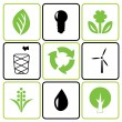Environmental icon set — Stock Vector