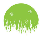 Vector grass silhouettes — Stock Vector